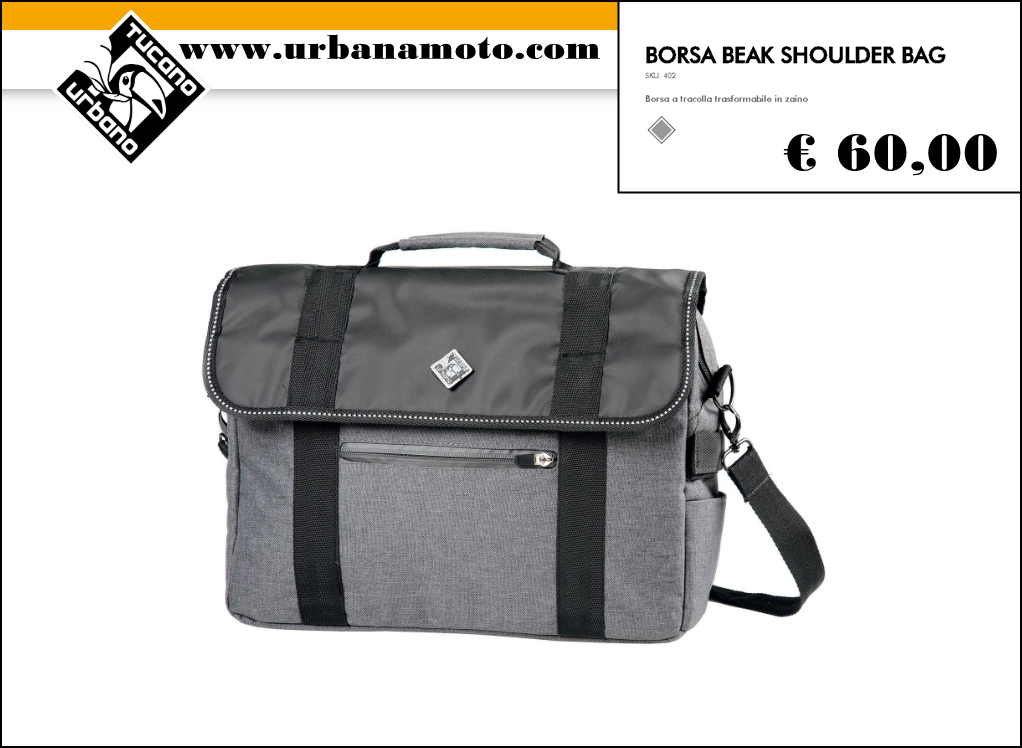TUCANO URBANOBORSA BEAK SHOULDER BAG
